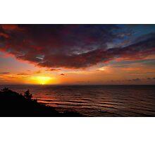 Westward - Sunset, Princeville, Kauai Photographic Print