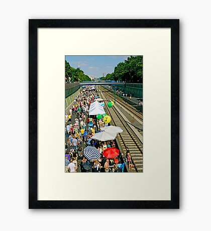 """Still-leben"" on the A40 Autobahn, Essen, Germany. Framed Print"