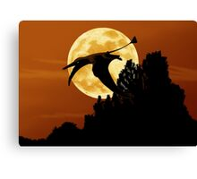 Rhamphorhynchus Moon Canvas Print
