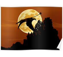 Rhamphorhynchus Moon Poster
