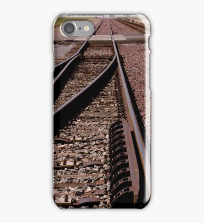Trains - Converging Tracks Or Making Choices iPhone Case/Skin