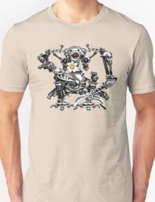 Cyberpunk Vintage Robot with Flower Unisex T-Shirt