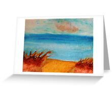 Down by the Shore on the Path, watercolor Greeting Card