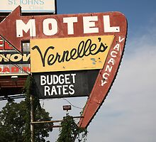 Route 66 - Vernelle's Motel by Frank Romeo