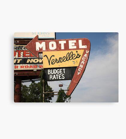 Route 66 - Vernelle's Motel Canvas Print