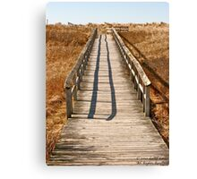 Mavillette Beach - Boardwalk Canvas Print