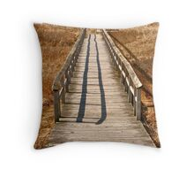 Mavillette Beach - Boardwalk Throw Pillow