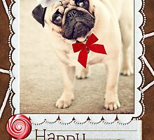 Seasons Greetings Pug by 1773