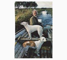 Beard Man Dogs Boat Kids Tee