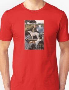 Beard Man Dogs Boat T-Shirt