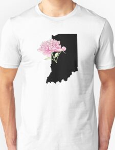 Indiana Silhouette and Flowers T-Shirt