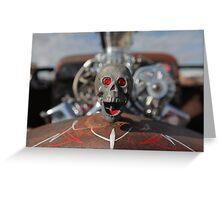 Racing Skull Greeting Card