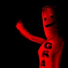 Smiling red tube man puppet by tomduggan