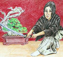 Iska Gozen, Woman Warrior (Iskamontero) by Sally O'Dell