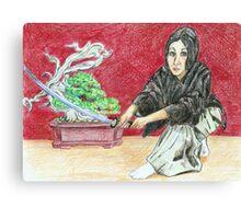 Iska Gozen, Woman Warrior (Iskamontero) Canvas Print