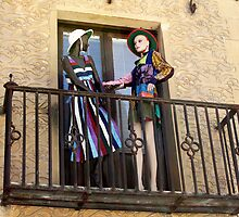 Balcony with mannequins by IKGM