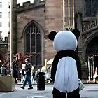 Panda suit performer in Manhattan by tomduggan