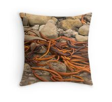 Weed and rocks Throw Pillow