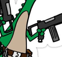 Dino with Guns Sticker