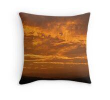 Sunset over Border Ranges Throw Pillow