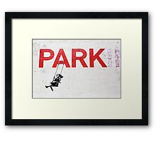 "Banksy ""Park"" Framed Print"