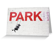 "Banksy ""Park"" Greeting Card"
