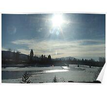 Thawing Sun...Washington State. USA Poster