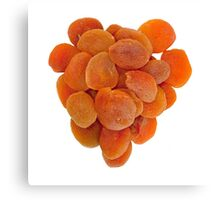 Dried apricots on a white background Canvas Print