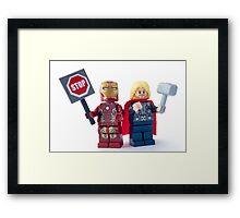Stop... Hammer time Framed Print