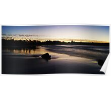 Silky Sunset Poster