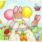 bunny and bug birthday party by paintpaintdraw