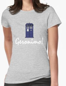 """Geronimo!"" Womens Fitted T-Shirt"