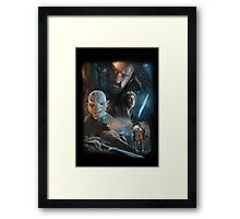The Hobbit: Thorin, Bilbo and Azog Framed Print