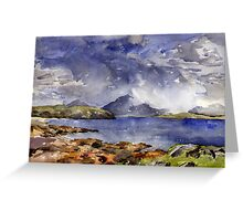 Squall over assynt Greeting Card
