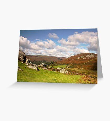 Bonehill Rocks to Bell Tor   Dartmoor Greeting Card