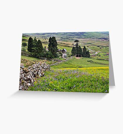 Dartmoor from Birch Tor down Headland Warren Greeting Card
