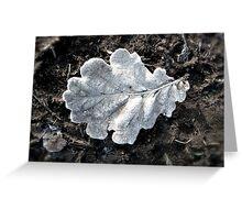 Frozen Oak leaf Greeting Card