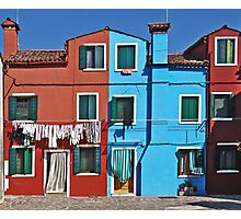Burano-washing day Photographic Print
