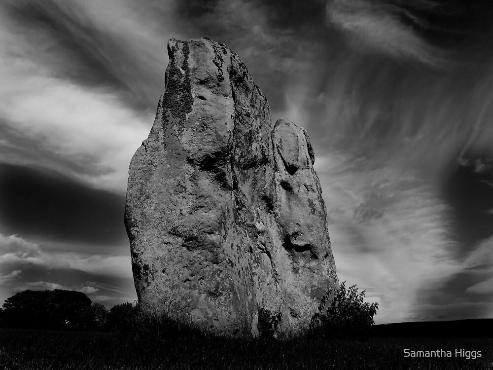 Avebury Stone in Black and White by Samantha Higgs