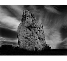 Avebury Stone in Black and White Photographic Print