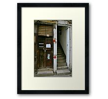 No entry/entry Framed Print