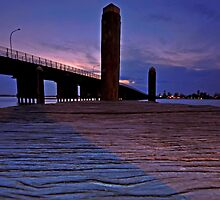 Pier(ing) Towards the Bridge by bazcelt