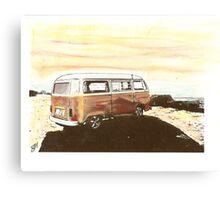 Beach Bus Canvas Print