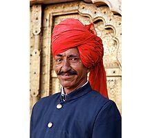 Palace Attendant, Jaipur Photographic Print