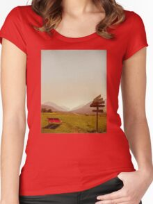 Vintage Holiday Women's Fitted Scoop T-Shirt