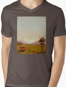 Vintage Holiday Mens V-Neck T-Shirt