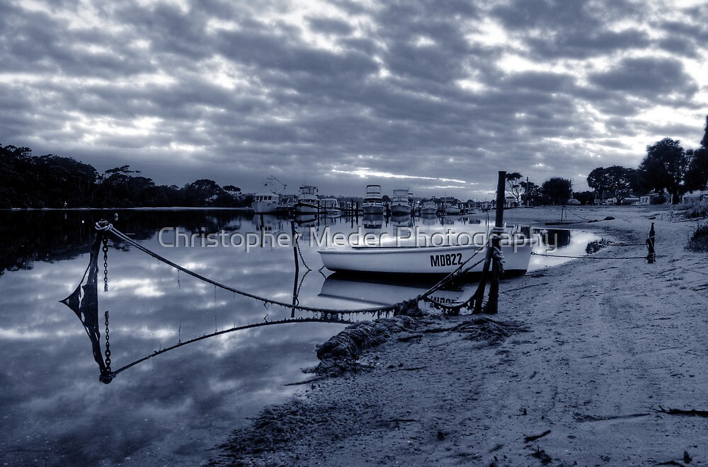 Boats in Lake Entrance by Christopher Meder Photography