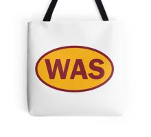 Washington - WAS - football - oval sticker and more Tote Bag