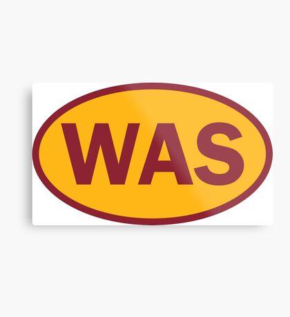 Washington - WAS - football - oval sticker and more Metal Print