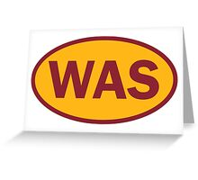 Washington - WAS - football - oval sticker and more Greeting Card